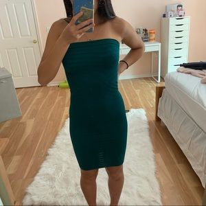 NWOT strapless bodycon dress